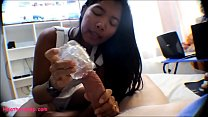 8 Weeks Pregnant Asian Tiny Teen Heather Deep Uses Toy And Swallows