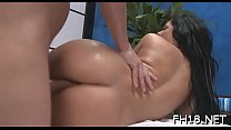 Cute and hot drilled hard by her massage therapist
