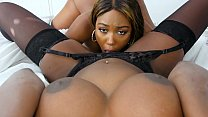 Hot stepmom having sex with her step daughter and her boyfriend - black porn