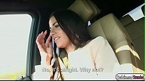 Italian babe Eveline Dellai gets fucked in the backseat thumbnail