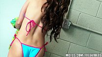 Beautiful bikini babe has an amazing ass and knows how to use it thumbnail