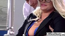 Horny Girl  With Big Juggs Banged In Office vid-20