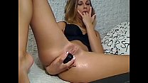 My wife masturbating for me - More sex videos on my new HiddenSexCams.tk site