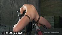 Sexy toy torturing for sexy gal