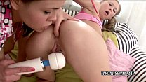 Teen lesbian Vera is playing with her girlfrien...