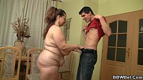 Fat girl skinny guy with big cock صورة