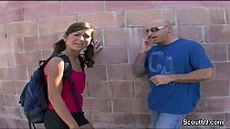 Petite and Flexible Teen in Real Street Casting with Big Dig video