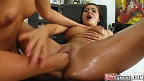 Fist Flush Fisting there oiled pussies - Download mp4 XXX porn videos