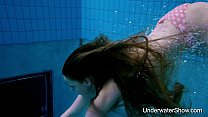 18577 Sexy girl shows magnificent young body underwater preview