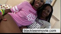 Ebony teen threesome fuck