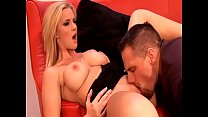 A horny guy gets to squeeze his stiff cock into a gorgeous blondes tight ass
