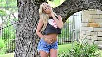 xoGisele - Playing With A Dildo Outdoors - 9Club.Top