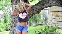 xoGisele - Playing With A Dildo Outdoors thumb