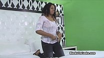 Black amateur tries herself on casting />                             <span class=