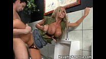 Nikki Benz on the Toilet
