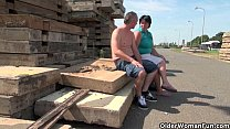 Mature moms getting fucked outdoors Image