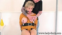 breast sucking • Busty Milf Lady Sonia gets her nipples tortured and clamped thumbnail