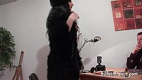 FFM Amateur arab cougar hard banged and dildo fucked for her casting couch