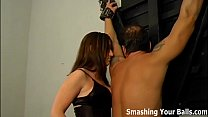 Two dommes breaking in their new slave