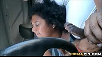 Fat Indian Gives A Blowjob In The Car