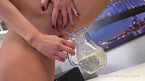 Big Tits and Pissing - Czech Girl Loves To Play With Piss