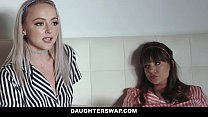 DaughterSwap - Teens fuck dads best friend during movie pornhub video