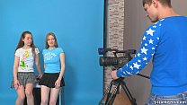 JizzOnTeens.com - Lora and Jazzy seduce cameraman pornhub video