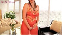 9456 curvy redhead wife ElliNude teases and masturbates preview