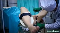 hard gynecological examination of a young patie... Thumbnail