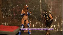 Mortal Kombat Femdom Ballbusting Sex with Crystal Lopez (Kitana and Scorpion)