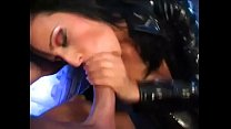 Hot bitch in leather fucked hard صورة