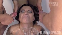 PremiumBukkake - Kattie Hill swallowing 52 huge cum loads in mouthful bukkake Vorschaubild