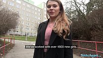 Public Agent Russian shaven pussy fucked for cash preview image
