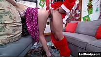 Image: Big ass and small tits of Anastasia Knight for Santa Claus