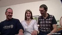 German couple makes their first threesome with a strange guy