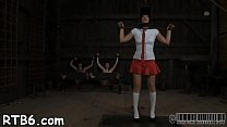 Marvelous babe's enjoyable nipples receives painful torturing
