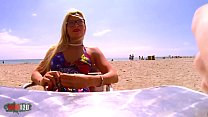 Hot French Blonde Picked Up At The Beach And Ass Fucked For Money