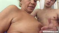 Young Souled Granny Sucking And Fucking Hard Cock's Thumb