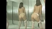 Brunettes Dance Nude In Pantyhose And Heels