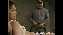 Japanese chi ck held down and stuffed with fat dicks