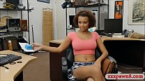 Huge boobs ebony pounded by pawn dude in the backroom thumbnail
