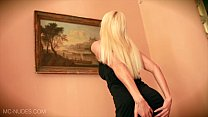 Blonde Babe Lena G. Finger Bangs Her Pussy in Black stockings and heels Preview