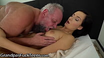 GrandpasFuckTeens Horny Brunette's Pussy Aches For Vintage Cock!