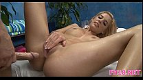 Beauty bounds on big cock