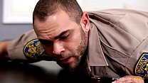 Gay Parole Officer Deepthroats Fat Dick video