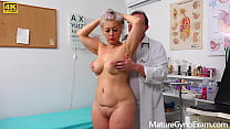 Perverted doctor examines the wet pussy of sexy...