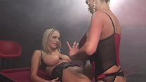 Busty blondes do some muff diving in the 69 position Preview