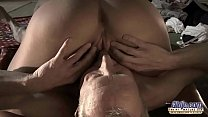 19774 Very Old Man Fucks Very Young Girl And Cums On Her Tongue After Pussy Sex preview