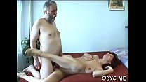 Extraordinary redhead Jessica with great natural tits prepares for blowjob