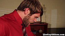 Officesex hunks sucking hard cock